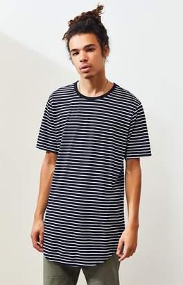Proenza Schouler Basics Basics Freer Striped Scallop T-Shirt