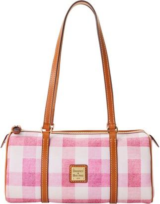 Dooney & Bourke Quadretto Check Barrel Bag
