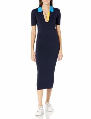 Lacoste Women's Colorblock Collar Long Polo Dress
