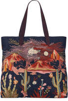 Johnny Was Yucca Embroidered Denim Everyday Tote Bag