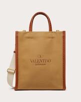 Thumbnail for your product : Valentino Garavani Uomo Valentino Garavani Identity Canvas Tote Bag Man Brown 55% Cotton 45% Linen OneSize
