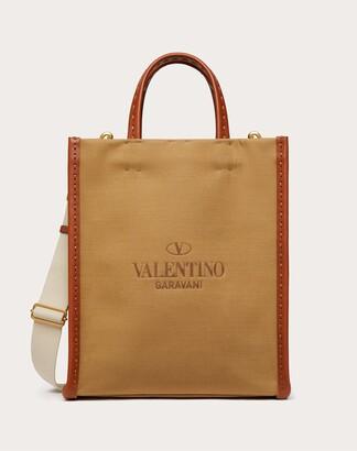 Valentino Garavani Uomo Valentino Garavani Identity Canvas Tote Bag Man Brown 55% Cotton 45% Linen OneSize