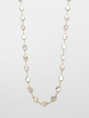 Ippolita Polished Rock Candy 18K Yellow Gold & Mother-Of-Pearl Confetti Necklace