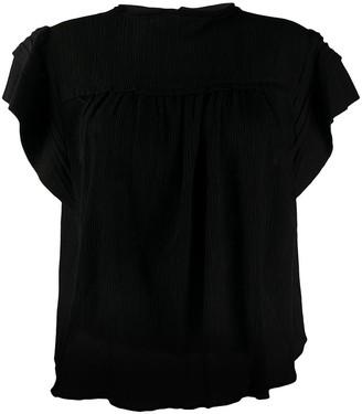 Isabel Marant Ruffle Sleeve Boxy Top
