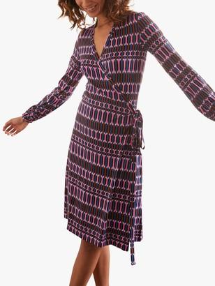 Boden Carly Wrap Midi Dress, Multi