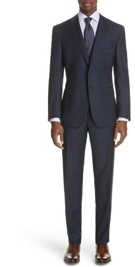 Canali Classic Fit Plaid Wool Suit