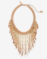 White House Black Market Rose Gold Beaded Choker Necklace