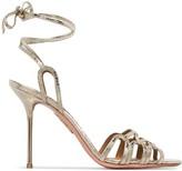 Aquazzura Azur metallic 95 sandals