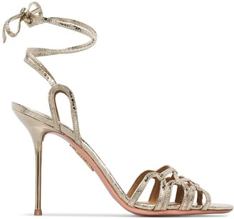 Aquazzura Azur metallic 95 sandals