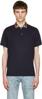 Gucci Navy Embroidered Polo