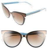 Fendi Women's 52Mm Cat Eye Sunglasses - Brown Crystal
