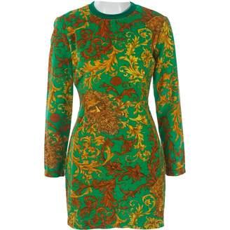 Versace Green Velvet Dresses