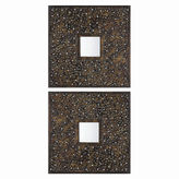 Asstd National Brand Maritssa Set of 2 Square Metal Mirrors