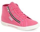 Superga Girl's High Top Zip Sneaker