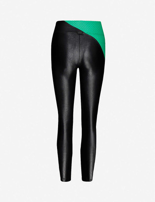 Koral Chase contrast-panel stretch-woven leggings
