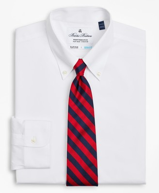 Brooks Brothers Big & Tall Dress Shirt, Performance Non-Iron with COOLMAX, Button-Down Collar Twill
