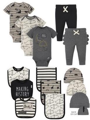 Gerber Baby Boy Organic Newborn Clothes Essentials Shower Gift Set, 14-Piece