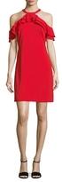 Julia Jordan Ruffle Cold Shoulder Dress