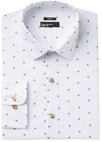 Bar III Men's Slim-Fit Stretch and Easy Care Bee Pinstripe Print Dress Shirt, Created for Macy's