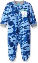 Bon Bebe Boys' Microfleece Zip Front Coverall with Applique