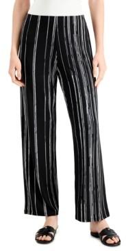 Alfani Striped Wide-Leg Pants, Created for Macy's