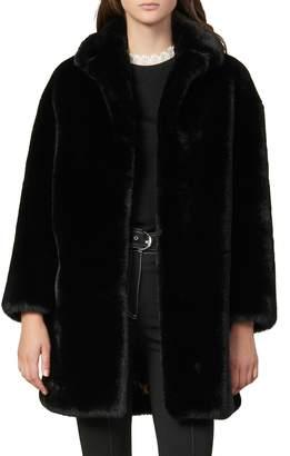 Sandro Fany Faux Fur Coat