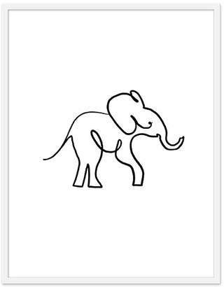 Pottery Barn Kids Baby Elephant Framed Art