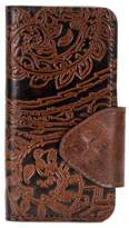 Patricia Nash Burnished Tooled Lace Collection Vara iPhone 7 Wallet