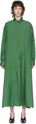 Jil Sander Green Packaway Shirt Dress