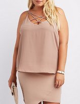 Charlotte Russe Plus Size Caged Tank Top