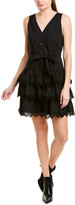 Rebecca Taylor Embroidered A-Line Dress