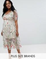 Elvi Floral Embroidered Dress