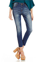 STS Blue Ashley High Rise Color Blocked Ankle Skinny Jeans