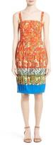 Tory Burch Women's Fernanda Border Print Dress