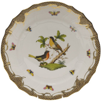 Herend Rothschild Bird Brown Motif 08 Dinner Plate