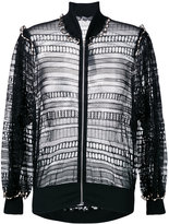 Alexander McQueen macramé bomber jacket - women - Silk/Cotton/Polyamide - 40