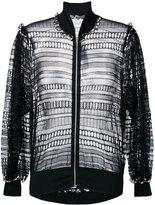 Alexander McQueen macramé bomber jacket
