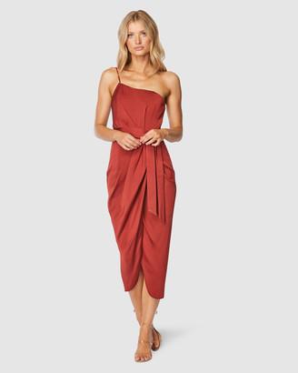 Pilgrim Women's Red Midi Dresses - Bari Midi Dress - Size One Size, 14 at The Iconic