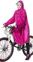 Liveinu Adult Bicycle Bike Rain Coat Extended Hooded Rain Poncho with Snaps 3XL