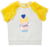 Fendi Crewneck Ruffled Shirt