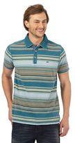 Mantaray Dark Turquoise Striped Polo Shirt