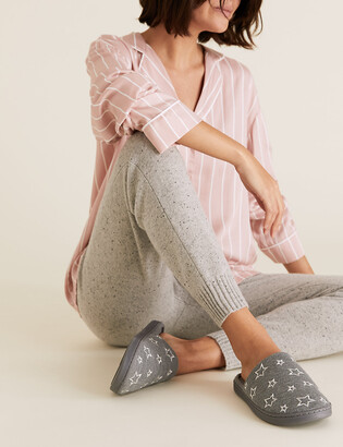 Marks and Spencer Star Mule Slippers with Secret Support