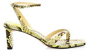 Alexandre Birman Women's Nelly Neon Snakeskin Sandals