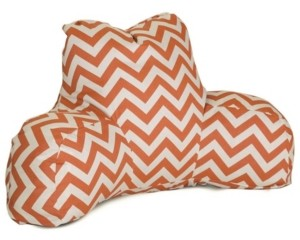 "Majestic Home Goods Chevron Comfortable Soft Reading Pillow with Removable Cover 33"" x 18"""
