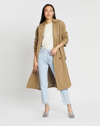 Mng Magnum Trench Coat