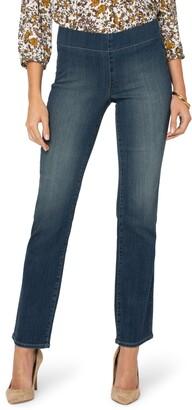 NYDJ Marilyn Pull-On Straight Leg Jeans