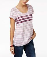 Style&Co. Style & Co Petite Striped T-Shirt, Only at Macy's