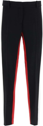 N°21 N.21 PANTS WITH TWO-TONE BANDS 42 Black, White, Red