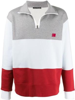 Acne Studios colour block zip sweatshirt