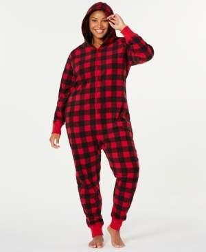 Macy's Matching Family Pajamas Plus Size Buffalo-Check Hooded Pajamas, Created for